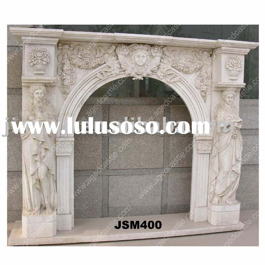 Stone Craft fireplace,marble fireplace mantel.carved fireplace surround