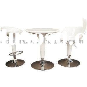 Table & Swivel Saddle Bar / Pub Seat Chair Stool Furniture for Event Promotion / Exhibition / Tr