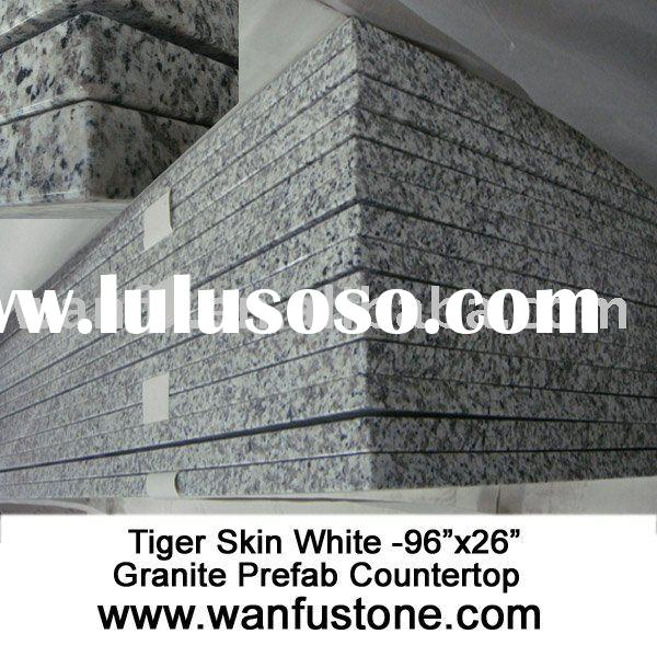Tiger Skin White Granite Prefab Countertop