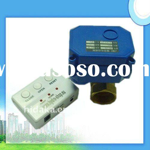 Water leak controller with ball valve