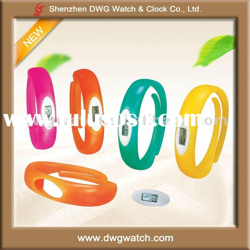 Waterproof Silicone Wristband Watch for Promotion