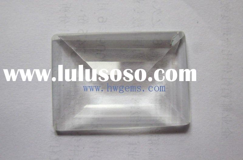 White Transparent Rectangle Glass Stone