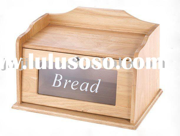 Wooden Bread Box With Window