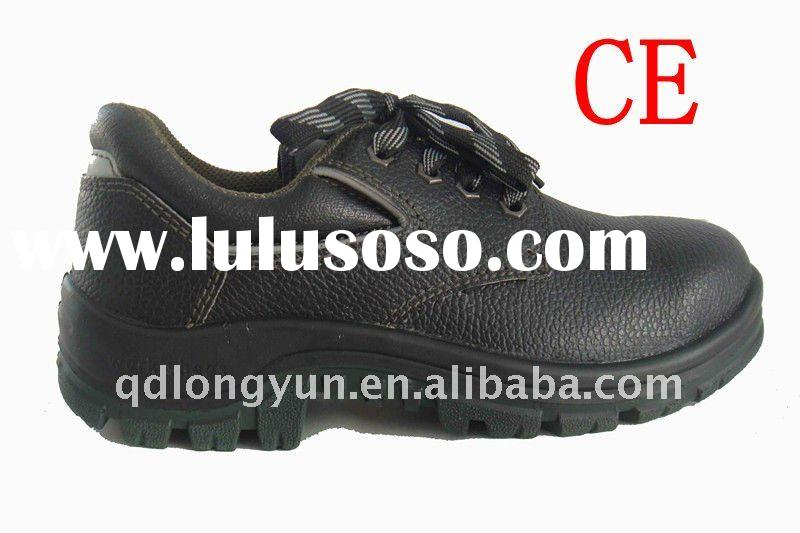 acid resistance steel toe black safety shoes