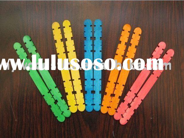 colored wood craft sticks for children toys