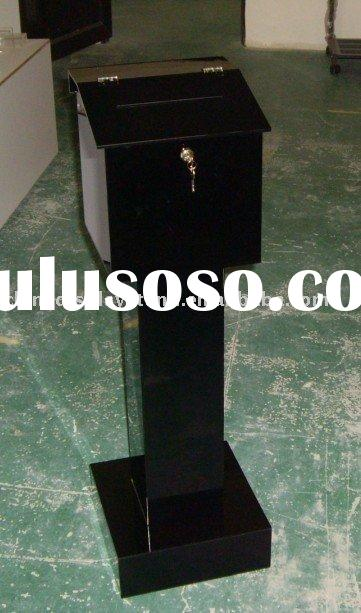 donation box , ballot box , acrylic box , box , tithe stand ,plexiglass box, offering box