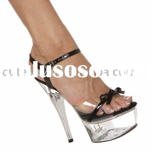 fashionable lady high heel shoes