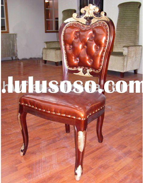 hand carved antique wood chair