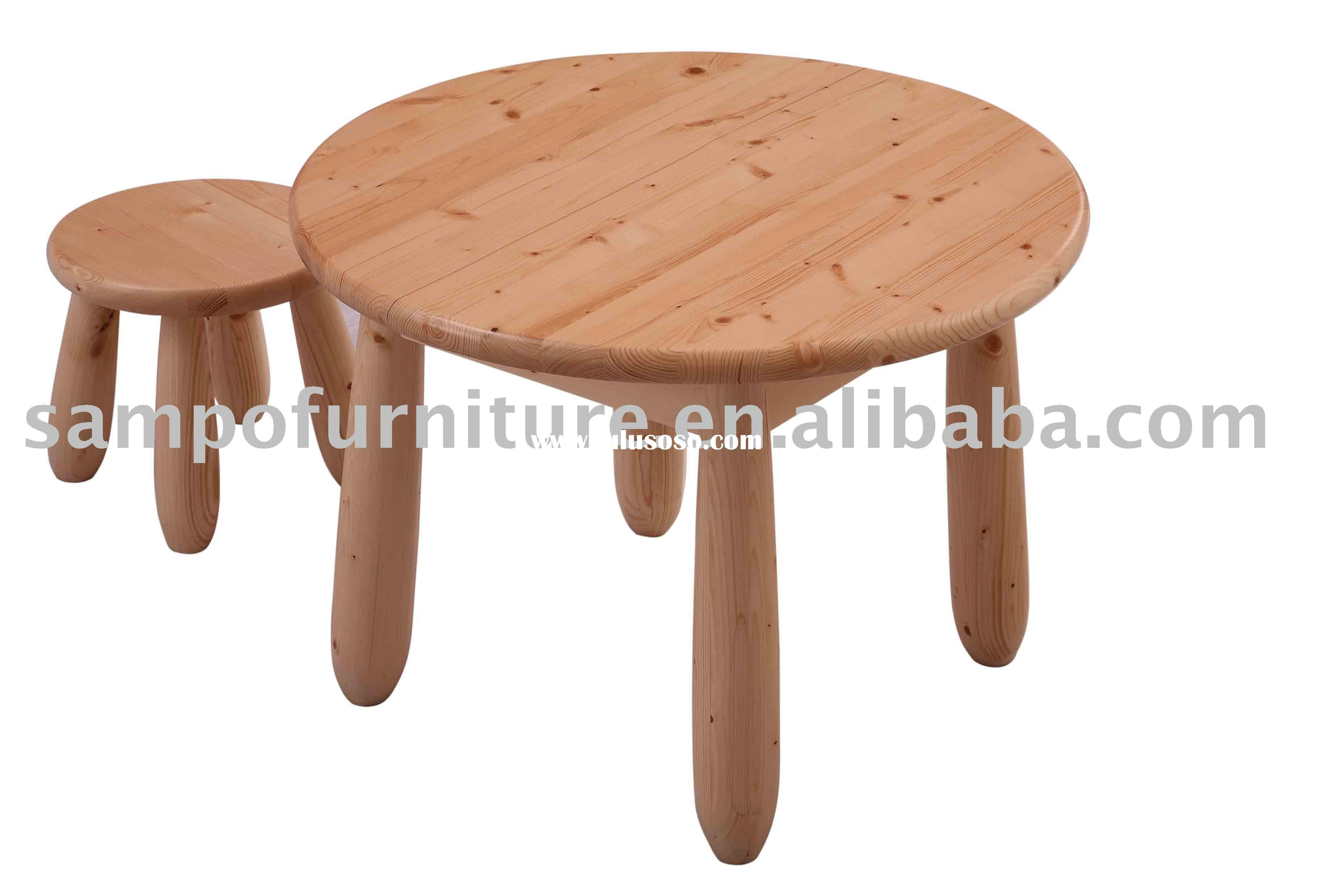 Small round kids table - Kids Wooden Table