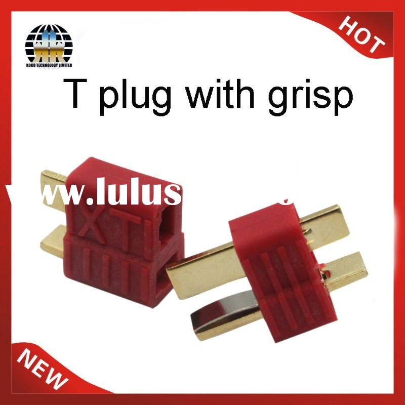 plastic t connector plug with grip for rc lipo battery