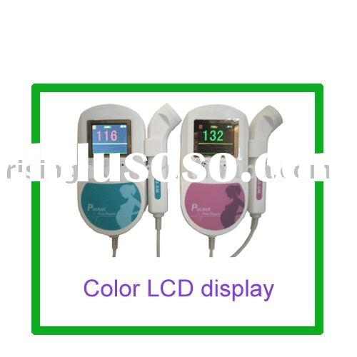pocket fetal doppler/baby doppler (LCD display with backlight)