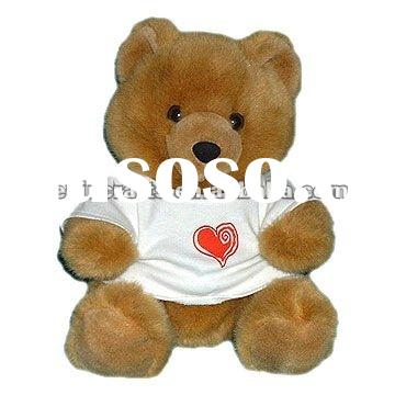 small stuffed teddy bear with t-shirt toy