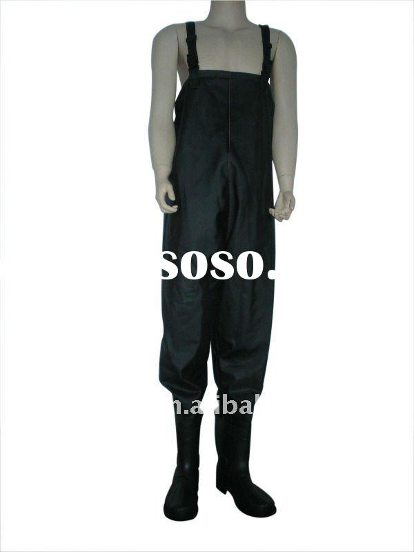 waterproof pvc high chest wader can be used to fight against flood