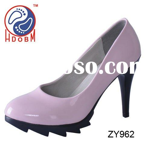women non slip patent leather shoes