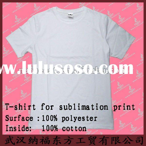 100% cotton cheap white blank t shirt for promotional