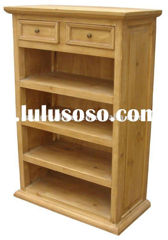 100% pine Home living room furniture with drawers small book cabinet