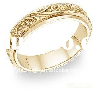 18 carat yellow gold wedding rings