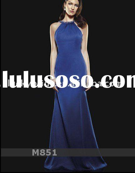 2011 Satin royal blue Wedding dress Evening dress bride gown bridal Dress Prom dress