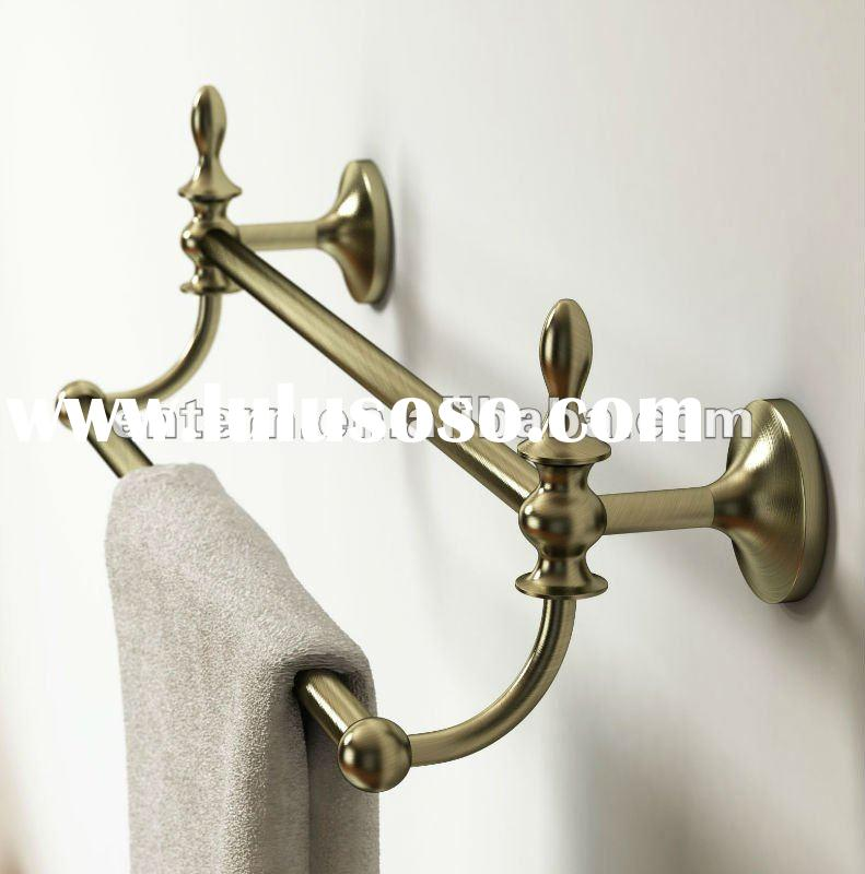 2012 Newest Brass Antique Double Towel Rail with Bronze Finish