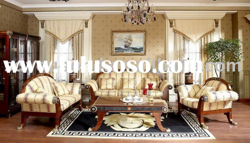 2012 classic furniture solid wood E10 fabric sofa