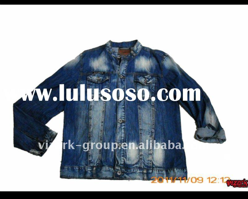 2012 latest design men's fashion denim jacket