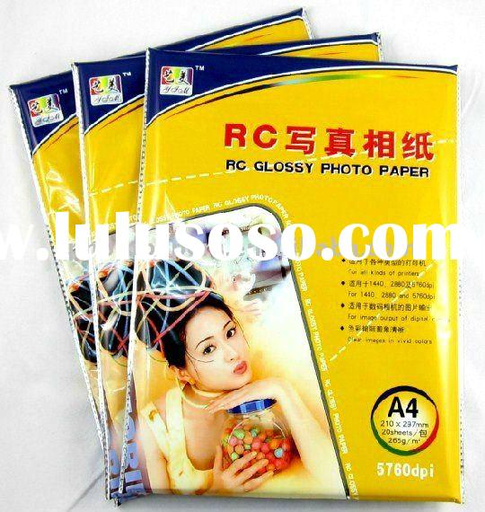260G RC silk one side glossy photo paper used for inkjet printer