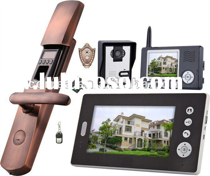 "2.4GHz digital wireless video door phone 7"" and intercom system"