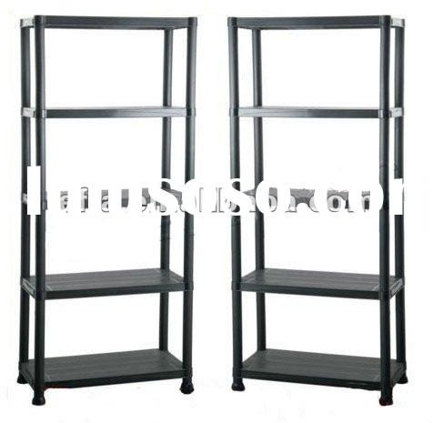 5 Tire Black Plastic Shelving Rack Shelves Storage Unit Rack