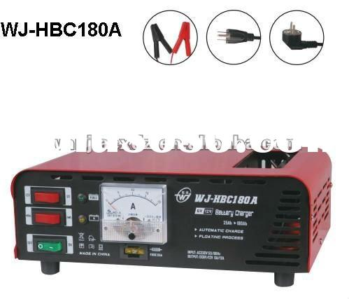 6A/12A,DC6V/12V adjustable Car battery charger with indicator light and fuse