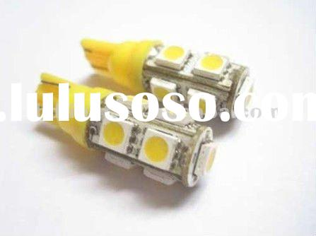 9 SMD T10 168 194 5050 LED Car Lights Bulb warm white