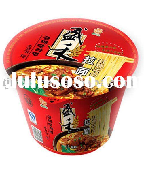 Artificial braised beef flavored instant ramen noodles