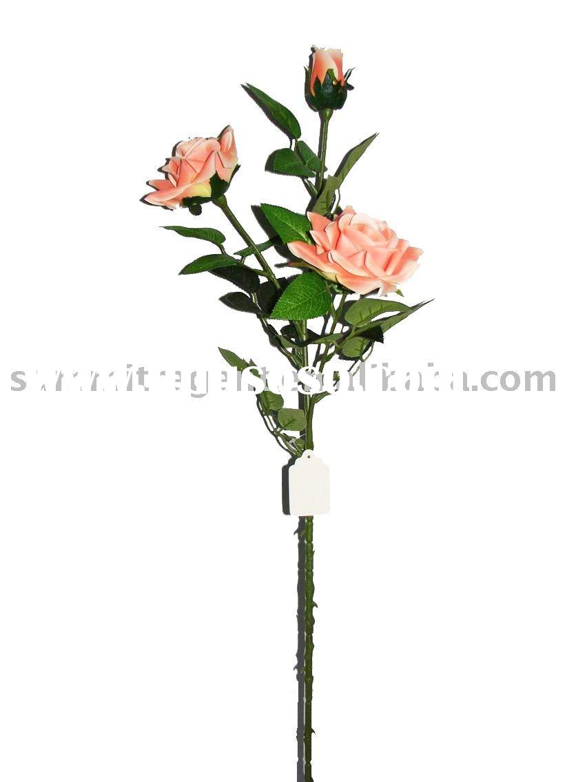 Artificial fake plastic Spring single rose SRS2137MC