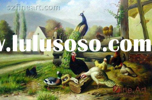 Beautiful realistic animal oil painting for house decoration
