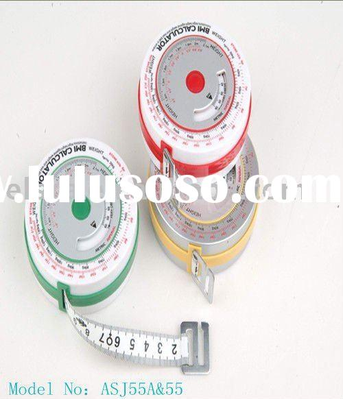 CHEAPEST AND HOT SELL:BMI tape measure , BMI ruler,BMI calculator,weight lose calculator ,healthy ta