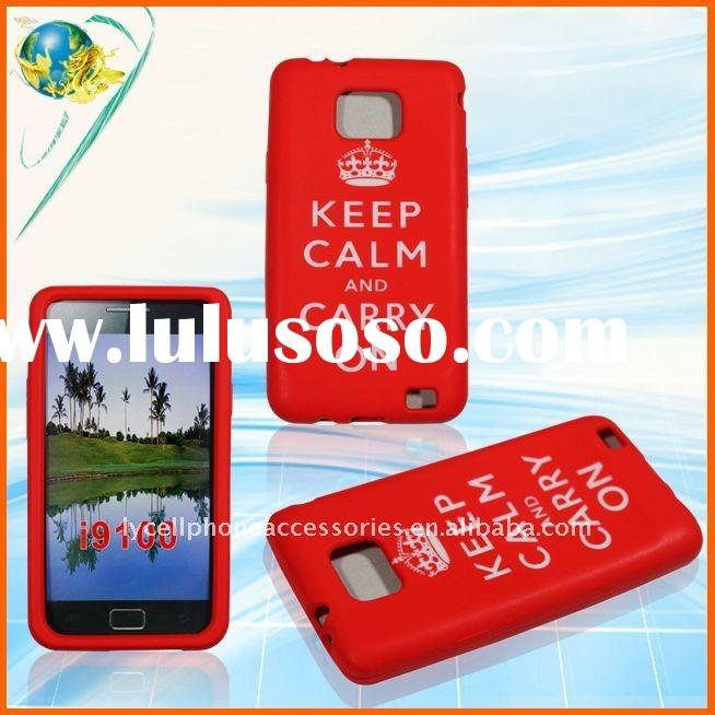 Carry On design silicone case for Samsung Galaxy S2 i9100