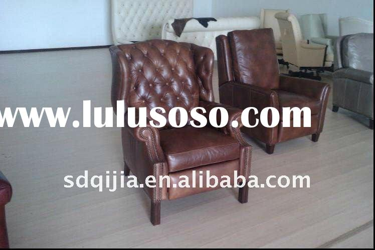 Classic Living Room Furniture Leather Sofa Chairs China