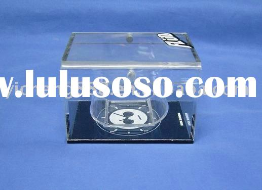 Clear plastic watch box