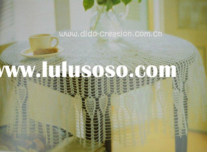 DD04002 Handmade Crochet Classic Table cloth Lace Round 100% cotton Doilies Cup Coaster Mat Tableclo
