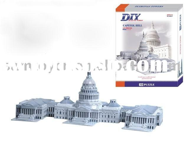 DIY U.S. CAPITOL(toy,puzzle,3d puzzle,puzzle toy,intelligence toys,diy toy,children toy)