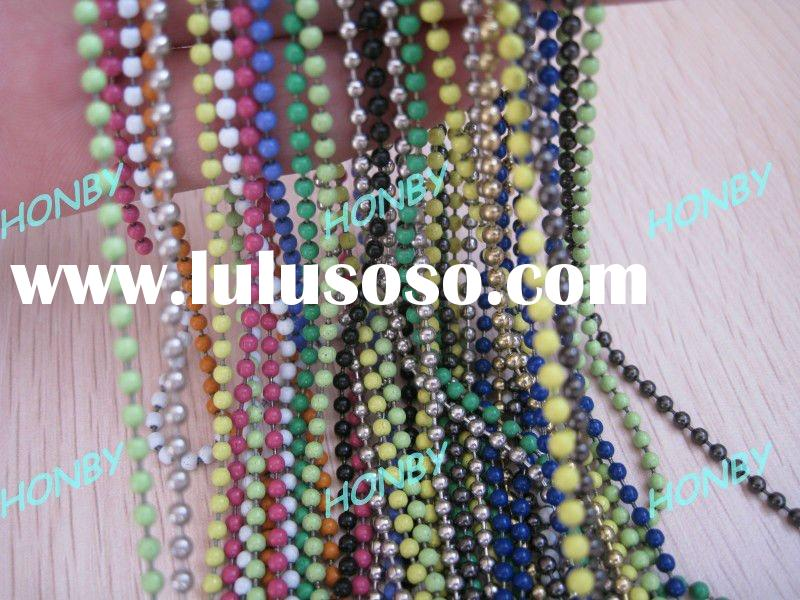 Decorative Metal Ball Bead Chain Necklace