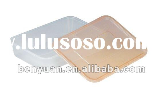 Disposable microwave plastic container with lid