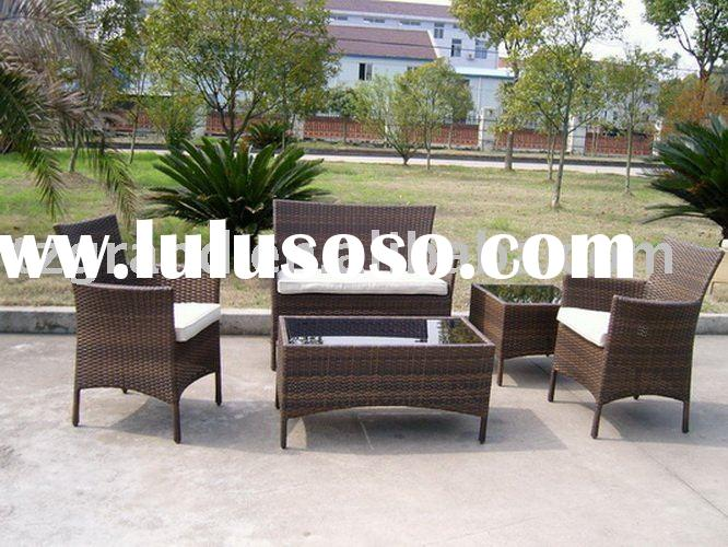 Economical patio 5pcs outdoor rattan or wicker furniture