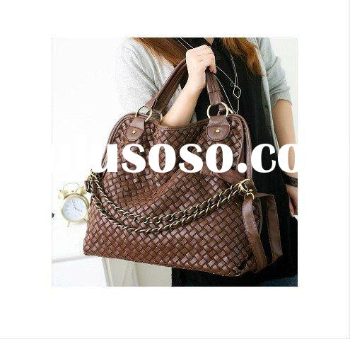 Fashion Korean Style Women's Hobo PU leather handbag shoulder Bag COFFEE