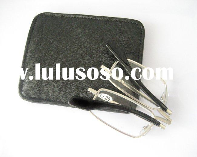 Folding reading glasses with case (BR0387C)