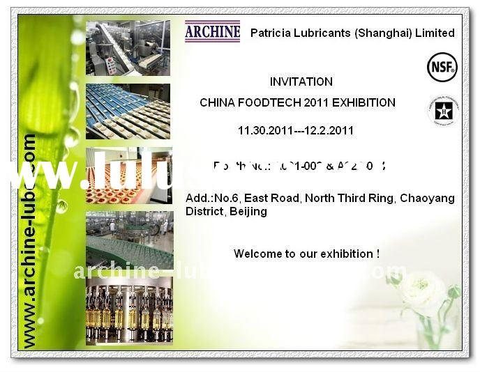 Food Grade Lubricants Distributor Wanted Exhibition In China