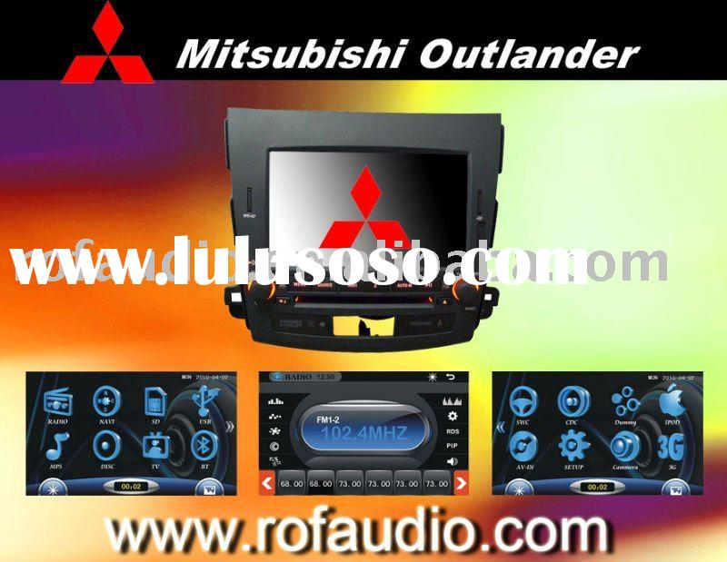 For Mitsubishi Outlander car dvd with gps rockford mp5 3g canbus ipod rds