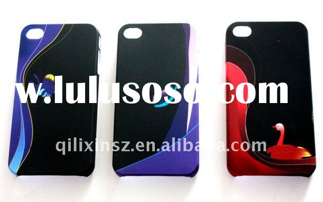 For iphone4&4S accessories back cover stick case screen protector case PC plastic hard shell bum