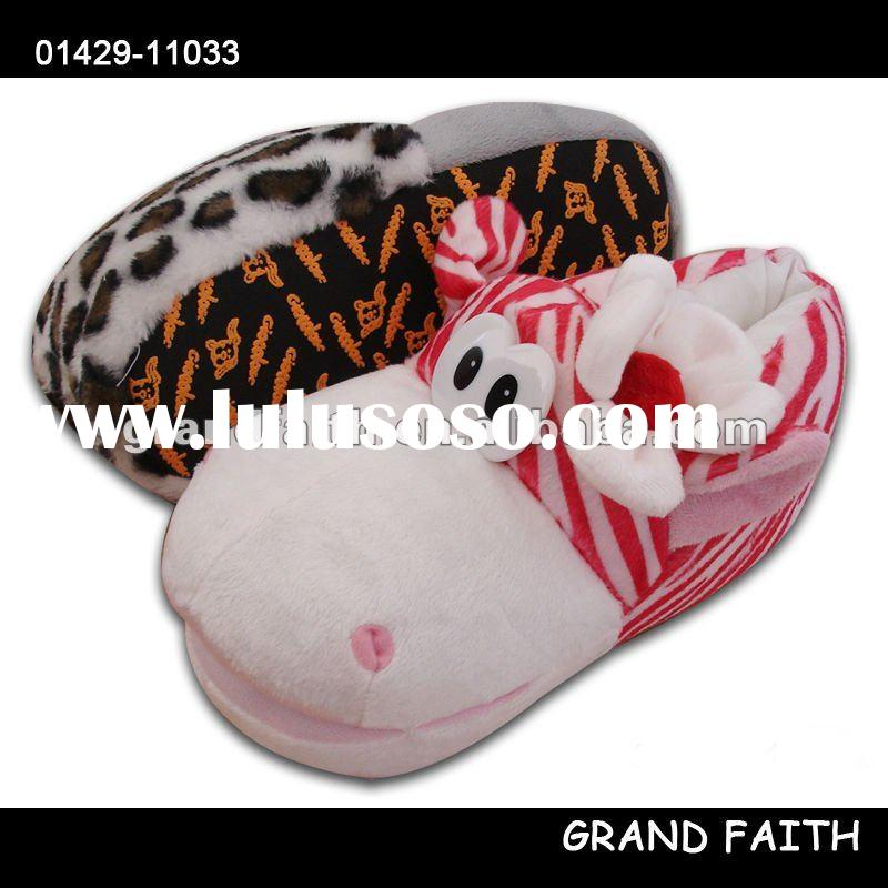Funny plush animal slippers