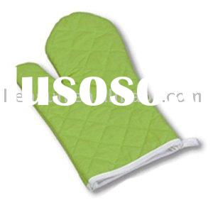 Green cotton BBQ glove