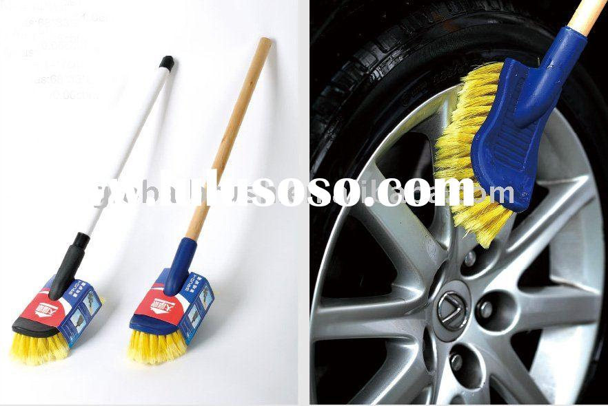 HQ0011 wet water flow car brush/car cleaning tool/auto duster for wheel cleaning